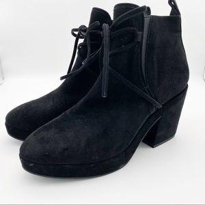 Eileen Fisher Ash Ankle Zip Booties Black